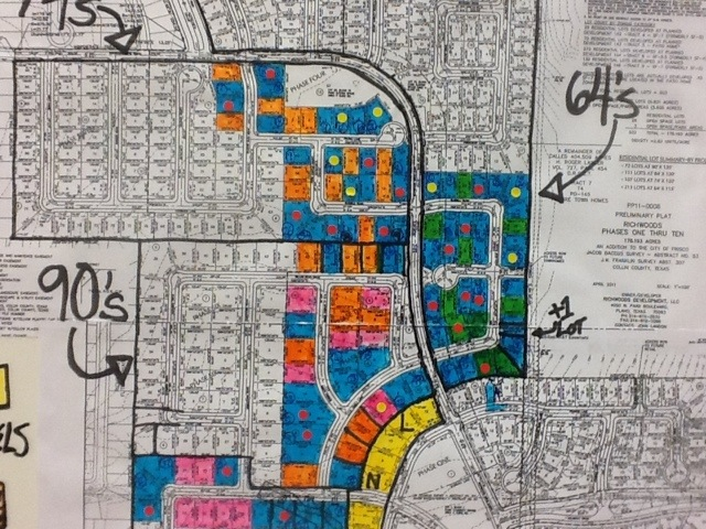 Plat Map of Richwoods in Frisco