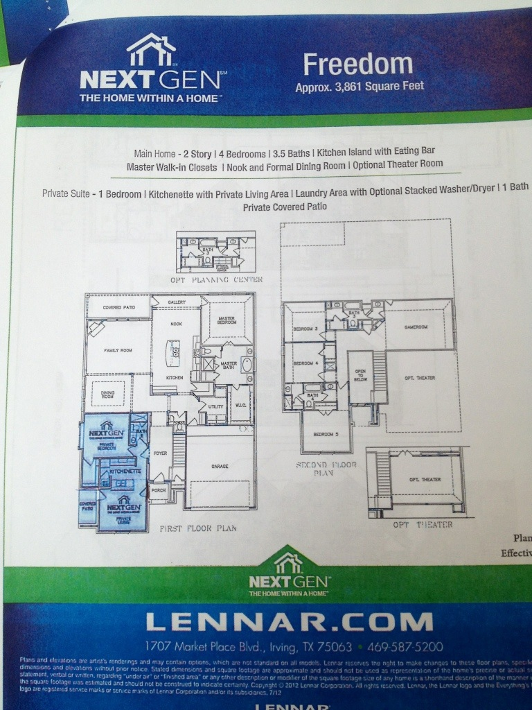 Lennar Homes Update Frisco Richwoods Lexington