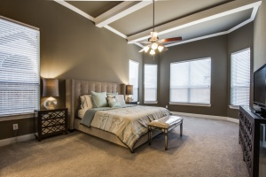 Master Bedroom with Upgraded Beams.