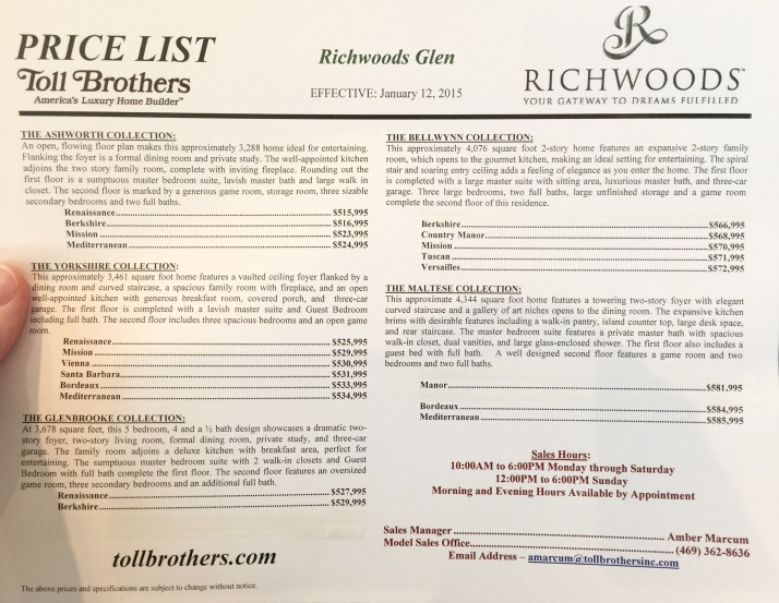 toll brothers richwoods update frisco richwoods