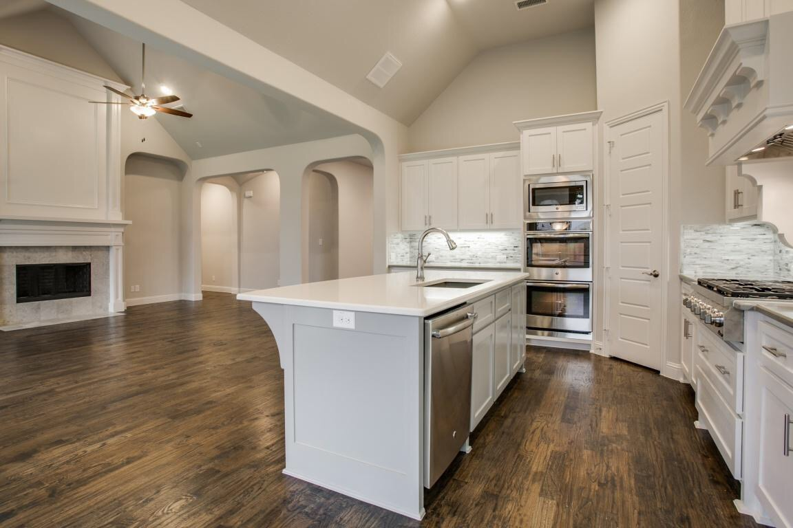 Shaddock Homes Kitchen and Family Room