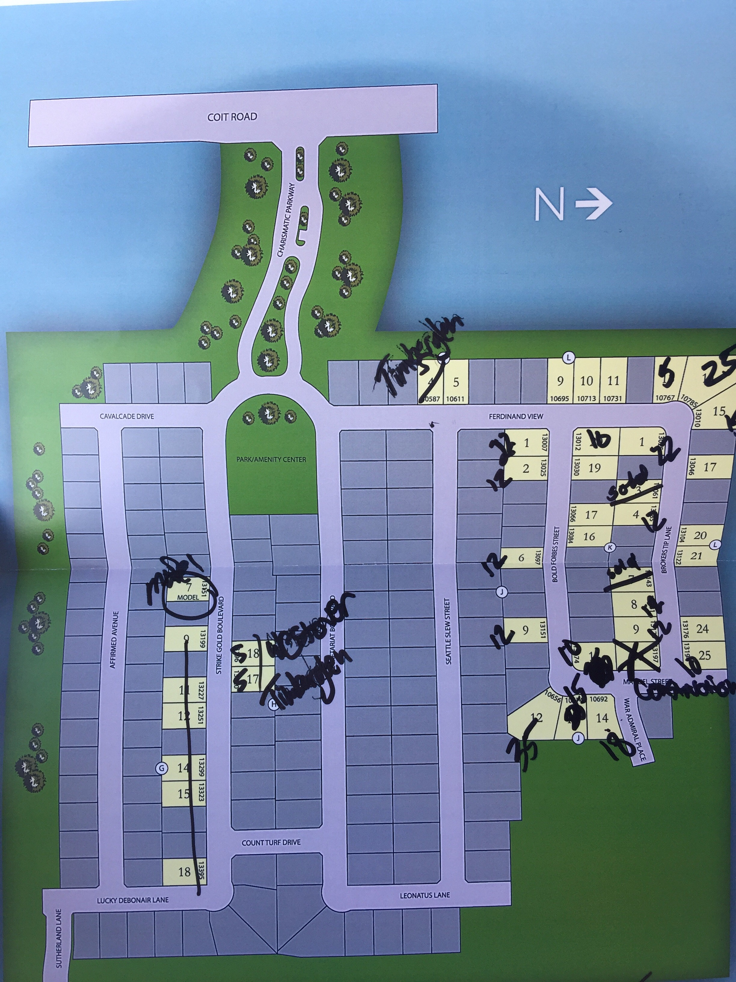 K Hovnanian Homes at Lexington Plat Map