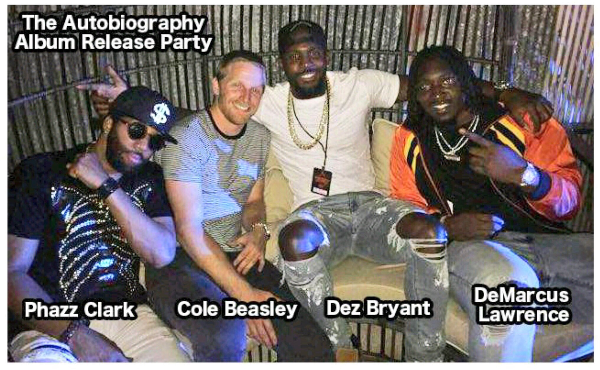Review Cole Beasley Of The Dallas Cowboys Release Party At Lava Cantina